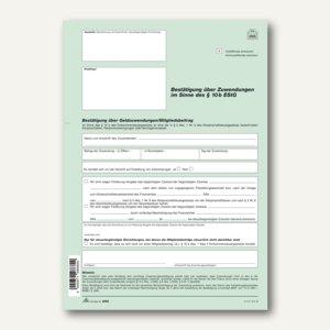 Zuwendungsbestätigung / Spendenbescheinigung § 10b EStG
