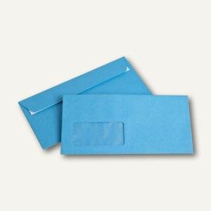 Briefumschläge DIN C6/5, Fenster, 100 g/m², haftklebend, intensivblau, 250 Stück