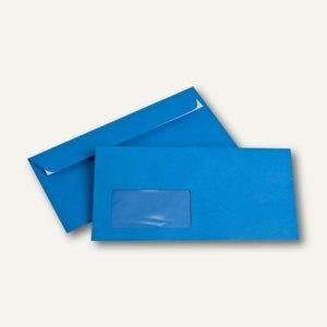 Briefumschläge DIN C6/5, Fenster, 100 g/m², haftklebend, königsblau, 250 Stück