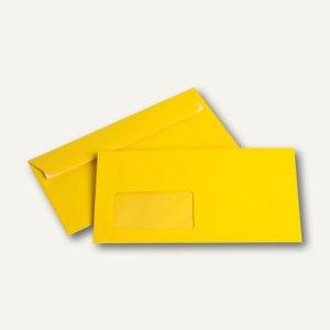 Briefumschläge DIN C6/5, Fenster, 100 g/m², haftklebend, goldgelb, 250 Stück