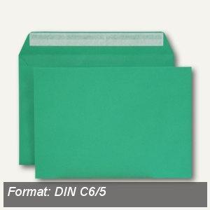 Briefumschlag, C6/5, haftklebend, 120 g/qm, dunkelgrün, 500 Stück