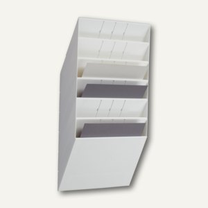 """Durable Wand-Prospekthalter-Set """"FLEXIBOXX 6"""", DIN A4 quer, weiß, 1709785010"""