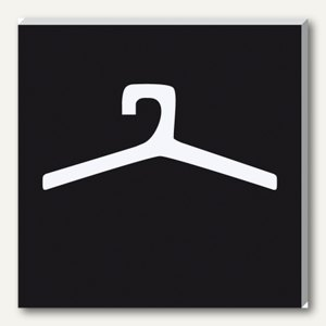 Wand-/Tür-Piktogramm pictoacrylic Garderobe
