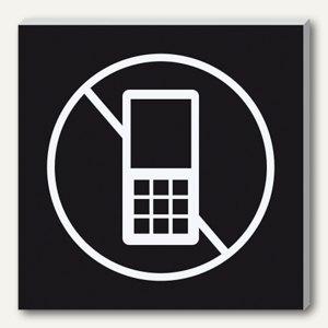 "sigel Wand-/Tür-Piktogramm pictoacrylic ""Handy verboten"", B85 x H85 x T8mm,PA310"