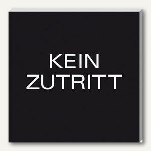 "Sigel Wand-/Tür-Piktogramm pictoacrylic ""Kein Zutritt"", B85 x H85 x T8 mm, PA320"