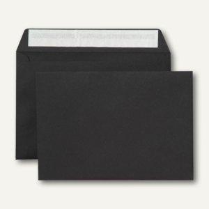 Briefumschlag, C5, haftklebend, 120 g/qm, schwarz, 500 Stück