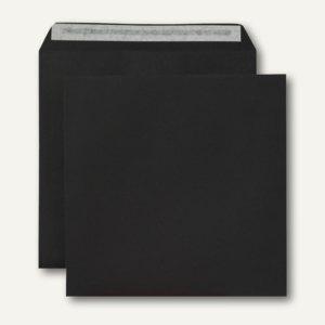 Briefumschlag, 220 x 220 mm, haftklebend, 120 g/qm, schwarz, 250 Stück