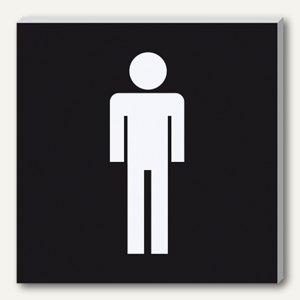 Wand-/Tür-Piktogramm pictoacrylic WC Herren