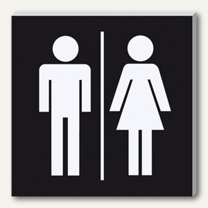 Wand-/Tür-Piktogramm pictoacrylic WC Damen/Herren