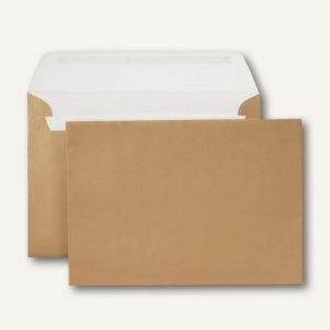 Briefumschlag, C5, 130 g/qm, gold, innen weiß, 500 Stück
