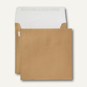 Briefumschlag, 160 x 160 mm, 130 g/qm, gold, innen weiß, 500 Stück