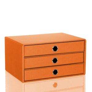 Rössler S.O.H.O. 3er Schubladenbox DIN A4, sunrise, 1524452213