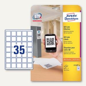 Zweckform QR Code-Etiketten, blickdicht, 35 x 35 mm, 875 Stück, L7120-25