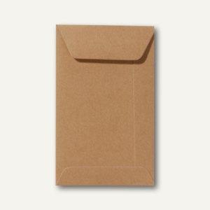 Farbige Briefumschläge 65 x 105 mm, 120 g/m², nassklebend, braun, 500 Stück
