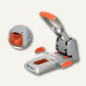 Rapid Registraturlocher Supreme HDC150/2, bis 150 Blatt, silber/orange, 23000600