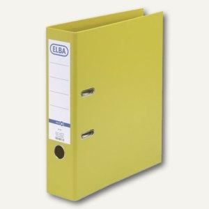 Elba Ordner smart PP/PP, 320x290mm, Rückenbreite 80mm, gelb, 100202166