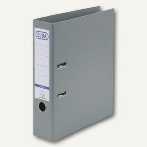 Elba Ordner smart PP/PP, 320x290mm, Rückenbreite 80mm, grau, 100202165