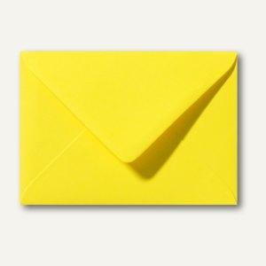 Farbige Briefumschläge 80 x 114 mm, C7, 120 g/m², nassklebend, kanariengelb, 500