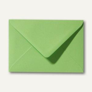 Farbige Briefumschläge 80 x 114 mm, C7, 120 g/m², nassklebend, apfelgrün, 500 St