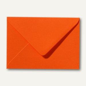 Farbige Briefumschläge 80 x 114 mm, C7, 120 g/m², nassklebend, dunkelorange, 500
