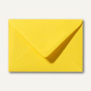 Farbige Briefumschläge 80 x 114 mm, C7, 120 g/m², nassklebend, butterblumengelb,