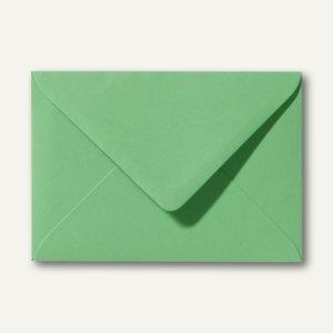 Farbige Briefumschläge 80 x 114 mm, C7, nassklebend, 120 g/m², wiesengrün, 500 S