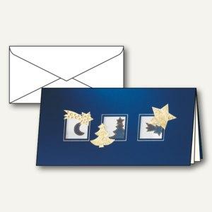 Weihnachtskarten Eleganza inkl. Umschlag