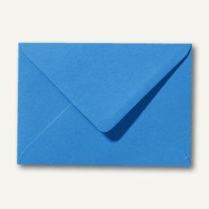 Farbige Briefumschläge 90 x 140 mm, 120 g/m², nassklebend, königsblau, 500 St.