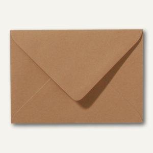 Farbige Briefumschläge 90 x 140 mm, 120 g/m², nassklebend, braun