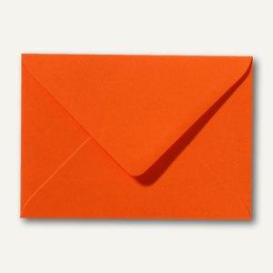 Farbige Briefumschläge 90 x 140 mm, 120 g/m², nassklebend, dunkelorange, 500 St.