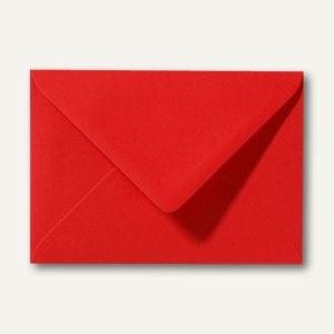 Farbige Briefumschläge 90 x 140 mm, 120 g/m², nassklebend, korallenrot, 500 St.