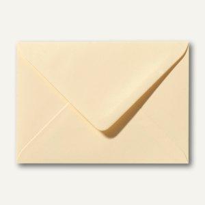 Farbige Briefumschläge 90 x 140 mm, 120 g/m², nassklebend, chamois, 500 St.
