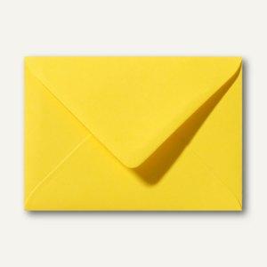 Farbige Briefumschläge 90 x 140 mm, 120 g/m², nassklebend, butterblumengelb, 500