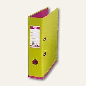 Elba Ordner myColour DIN A4, 80 mm, hellgrün/pink, 100081037
