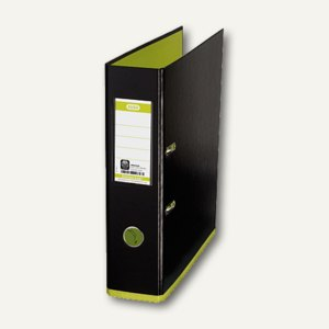 Elba Ordner myColour DIN A4, 80 mm, schwarz/hellgrün, 100081036