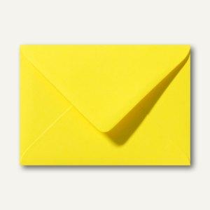 Briefumschläge 110 x 156 mm nassklebend ohne Fenster kanariengelb 500St.