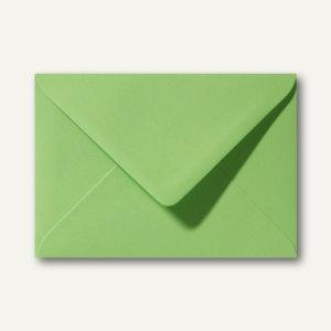 Briefumschläge 110 x 156 mm nassklebend ohne Fenster apfelgrün 500St.