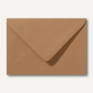 Briefumschläge 110 x 156 mm nassklebend ohne Fenster braun 500St.