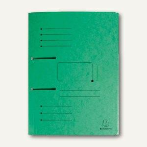Exacompta Sammelmappe zum Abheften - DIN A4, Karton, grün, 447003E