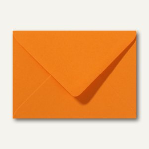 Briefumschläge 110 x 156 mm nassklebend ohne Fenster grellorange 500St.