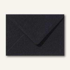 Briefumschläge 110 x 156 mm nassklebend ohne Fenster schwarz 500St.