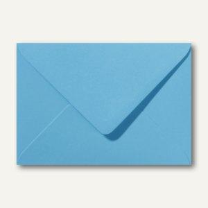 Briefumschläge 120 x 180 mm nassklebend ohne Fenster ozeanblau 500St.