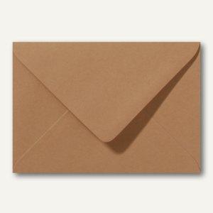 Briefumschläge 120 x 180 mm nassklebend ohne Fenster braun 500St.