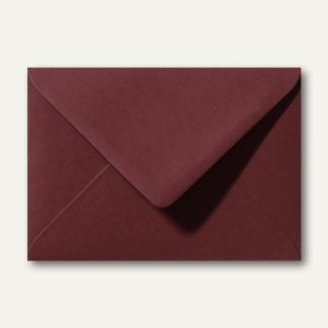 Briefumschläge 120 x 180 mm nassklebend ohne Fenster dunkelrot 500St.