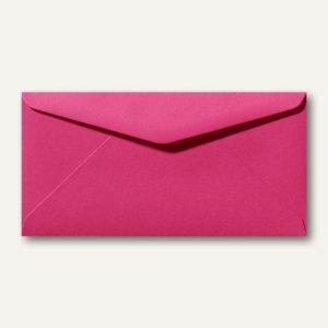 Briefumschläge 110 x 220 mm DL nassklebend ohne Fenster fuchsie 500St.