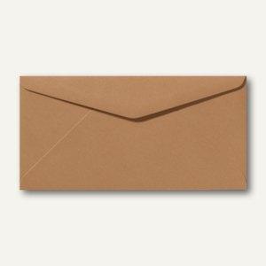 Briefumschläge 110 x 220 mm DL nassklebend ohne Fenster braun 500St.