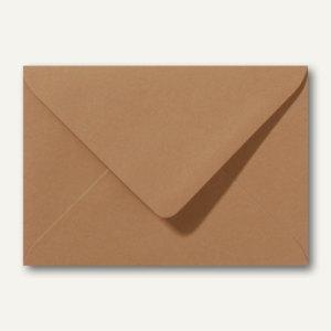 Artikelbild: Farbige Briefumschläge 156 x 220 mm nassklebend ohne Fenster braun 500St.