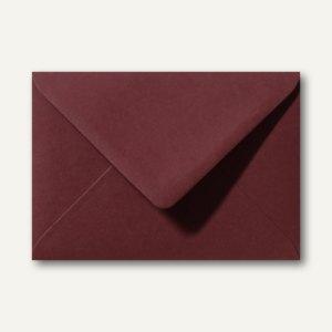 Artikelbild: Farbige Briefumschläge 156 x 220 mm nassklebend ohne Fenster dunkelrot 500St.