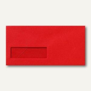 Briefumschläge 110x220mm DL nassklebend Fenster links 30x100mm rot 500St.