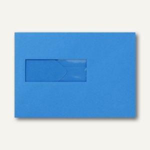 Farbige Briefumschläge 156x220mm nasskleb. Fenster li 40x110mm königsblau 500St.